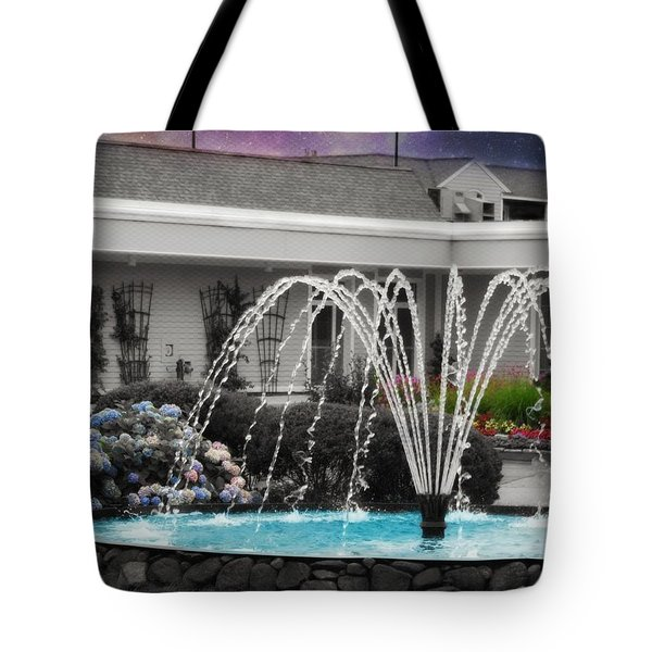 Tote Bag featuring the photograph Water Fountain by Robin Regan