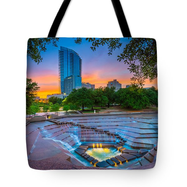 Water Gardens Sunset Tote Bag