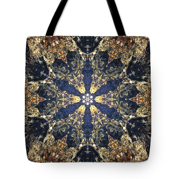 Tote Bag featuring the mixed media Water Glimmer 3 by Derek Gedney