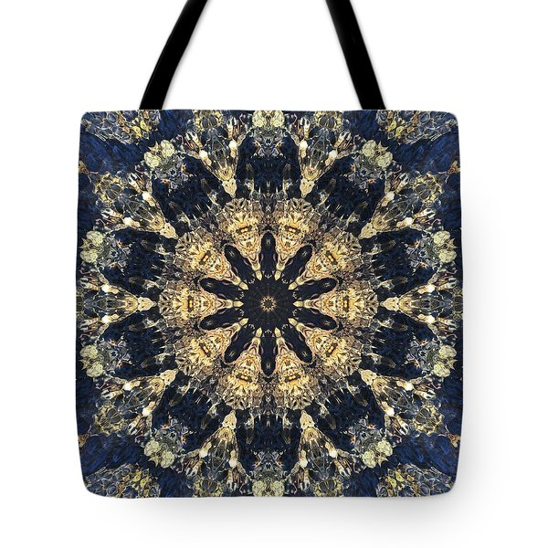 Tote Bag featuring the mixed media Water Glimmer 4 by Derek Gedney