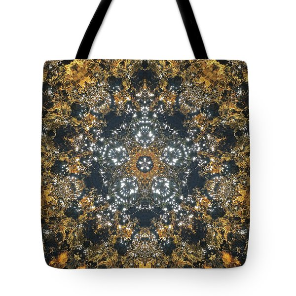 Tote Bag featuring the mixed media Water Glimmer 5 by Derek Gedney