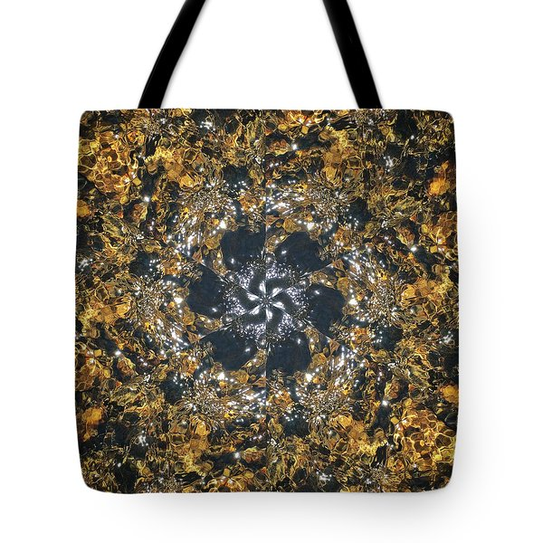 Tote Bag featuring the mixed media Water Glimmer 6 by Derek Gedney