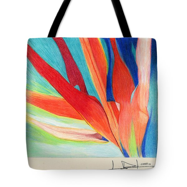 Water Grass Blue Tote Bag