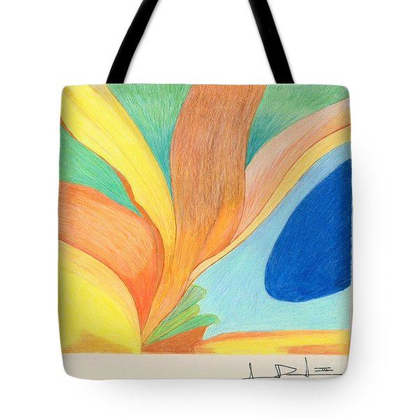 Water Grass Blue Pond Tote Bag