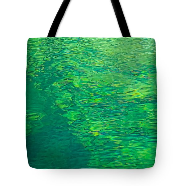 Water Green Tote Bag by Britt Runyon