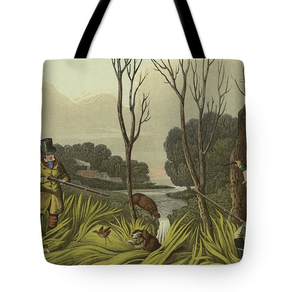 Water Hen Shooting Tote Bag