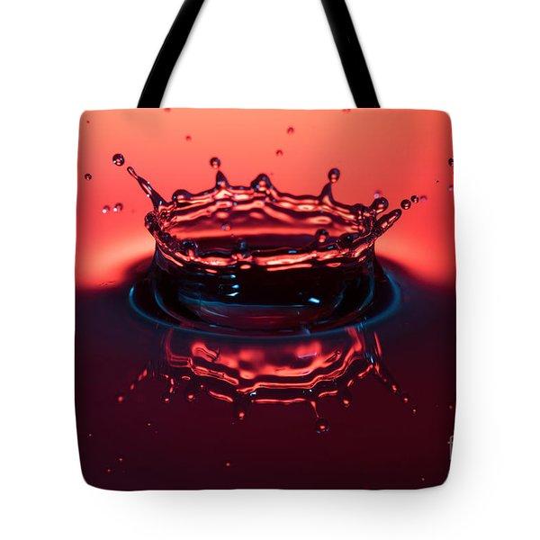 Water Hits Water Tote Bag