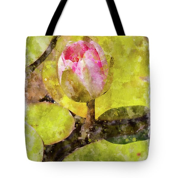 Water Hyacinth Bud Wc Tote Bag by Peter J Sucy