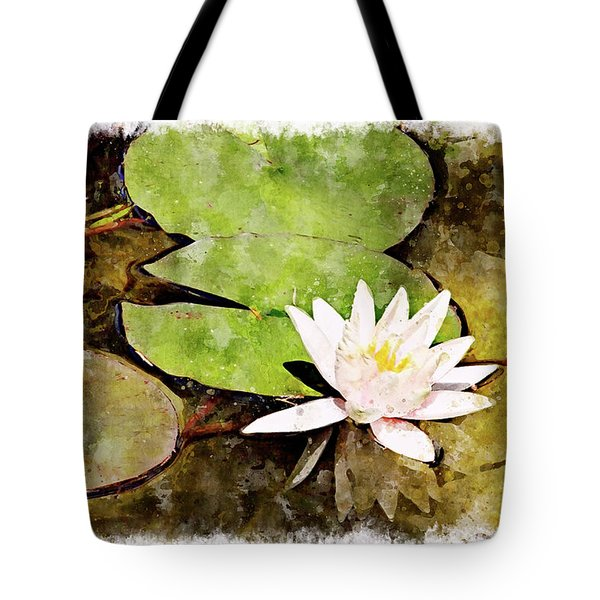 Water Hyacinth Two Wc Tote Bag by Peter J Sucy
