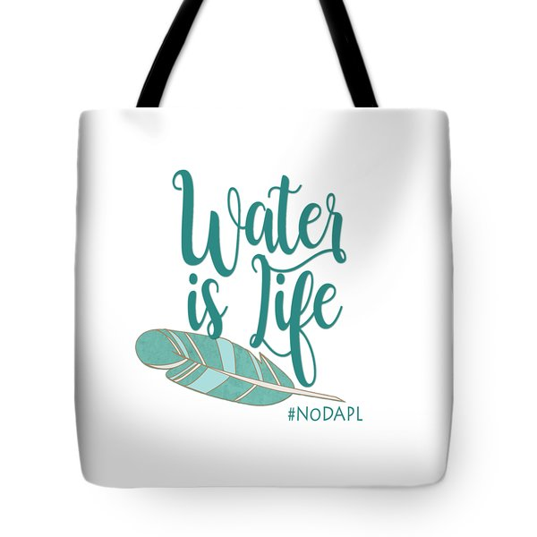 Water Is Life Nodapl Tote Bag by Heidi Hermes