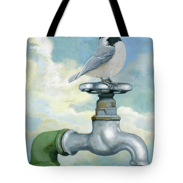 Tote Bag featuring the painting Water Is Life - Realistic Painting by Linda Apple