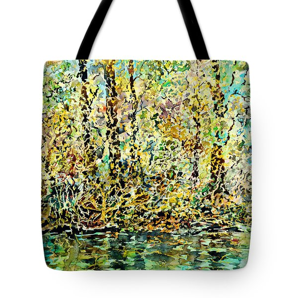 Water Kissing Land Tote Bag