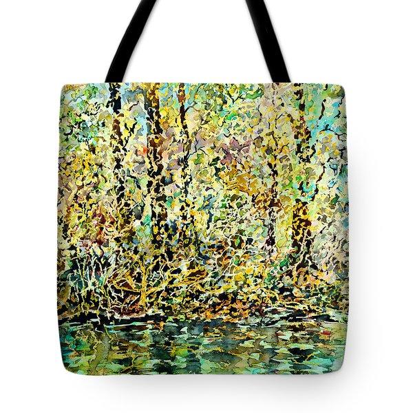 Water Kissing Land Tote Bag