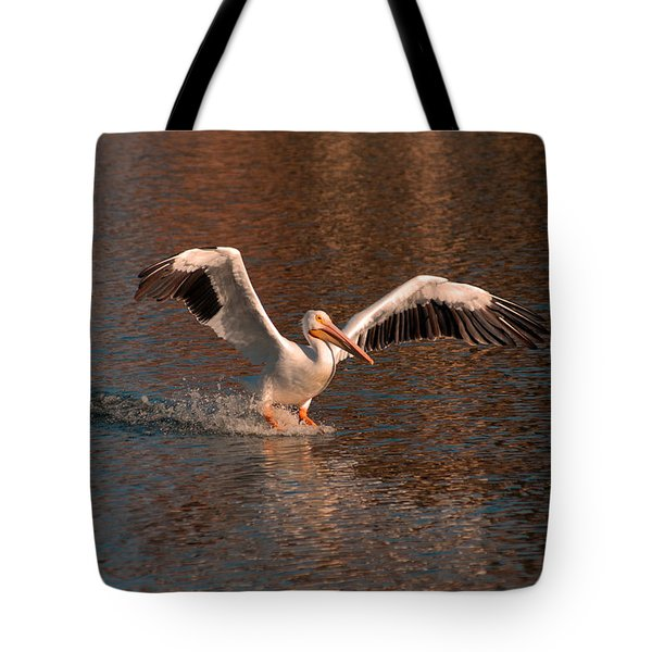 Water Landing Tote Bag