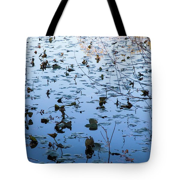Water Lilies Autumn Song Tote Bag
