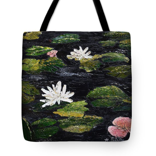 Tote Bag featuring the painting Water Lilies IIi by Marilyn Zalatan