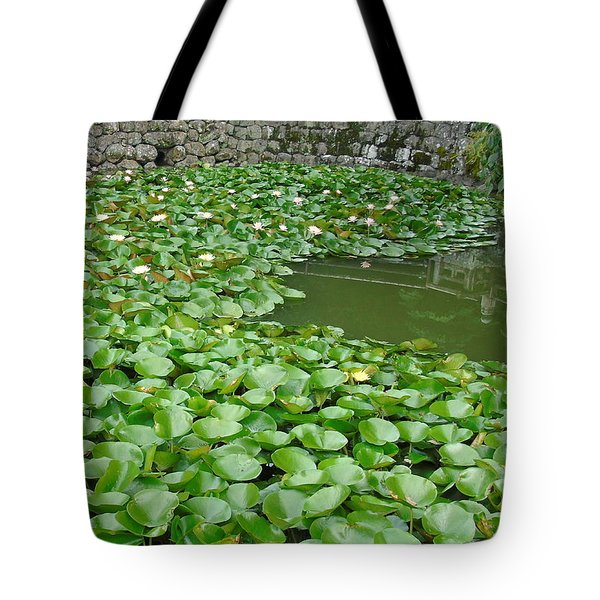 Water Lilies In The Moat Tote Bag