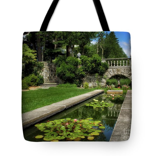 Water Lilies In The Pool Tote Bag