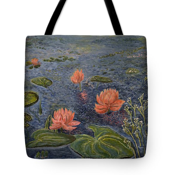 Water Lilies Lounge Tote Bag by Felicia Tica