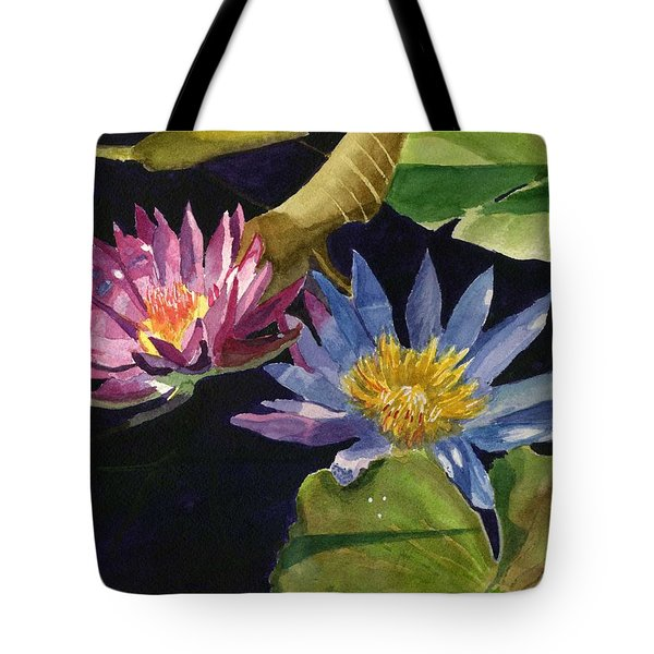 Water Lilies Tote Bag by Lynne Reichhart