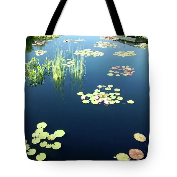 Tote Bag featuring the photograph Water Lilies by Marilyn Hunt