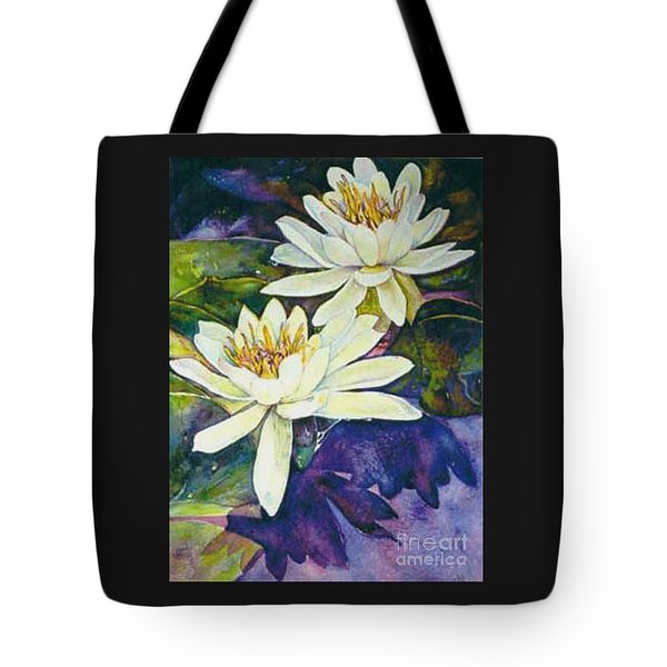 Water Lilies Tote Bag by Norma Boeckler
