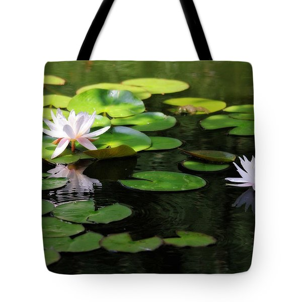 Tote Bag featuring the photograph Water Lilies by Trina  Ansel