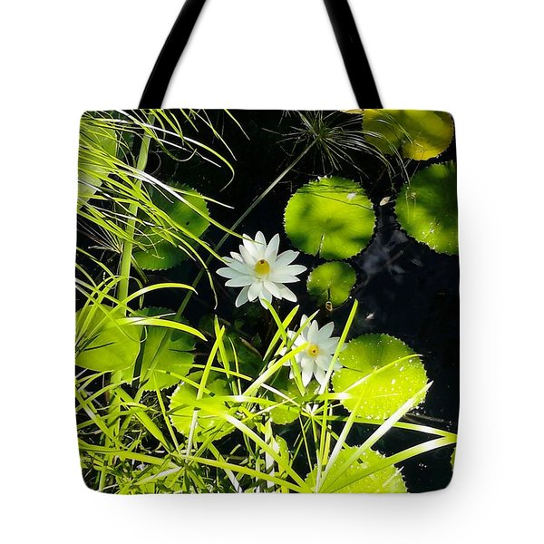 Water Lillies Tote Bag by John Parry