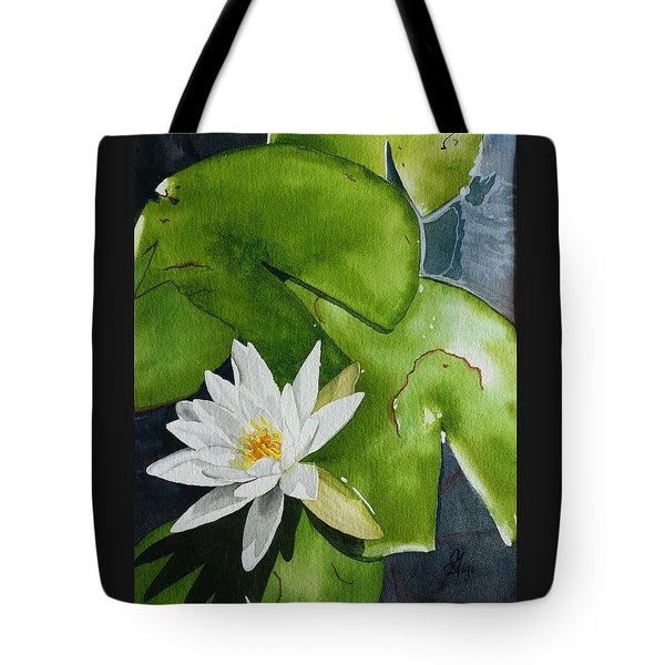 Tote Bag featuring the painting Water Lilly by Gigi Dequanne