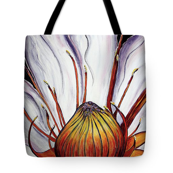 Tote Bag featuring the painting Water Lilly  by Jolanta Anna Karolska