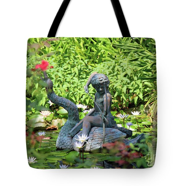 Water Lilly Pond Tote Bag