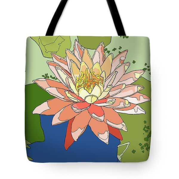 Water Lily And Duck Weed Tote Bag by Jamie Downs