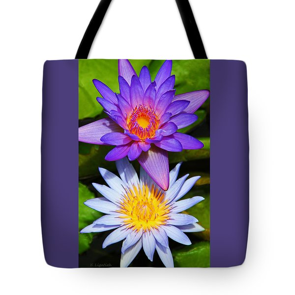 Water Lily Blossoms Tote Bag