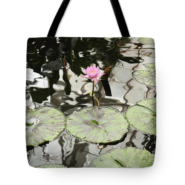 Water Lily Canvas Tote Bag by Carol Groenen