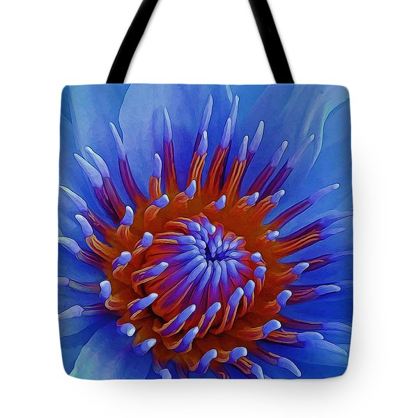 Water Lily Center Tote Bag