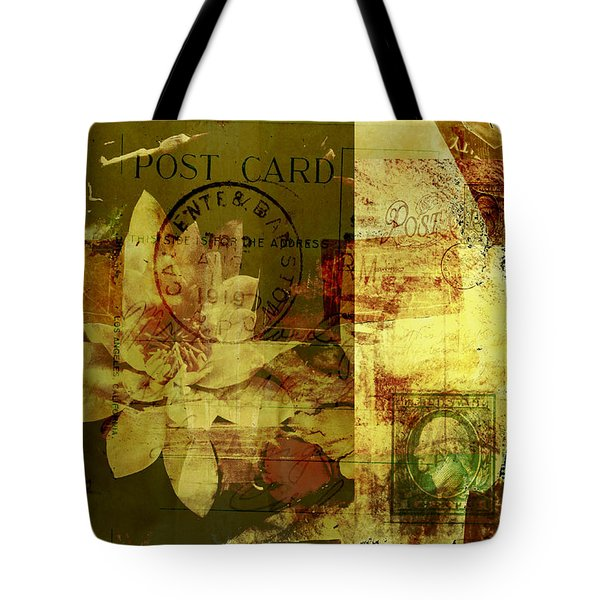 Water Lily Collage Tote Bag by Ann Powell