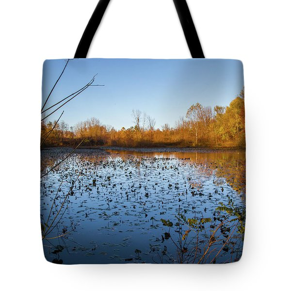 Water Lily Evening Serenade Tote Bag