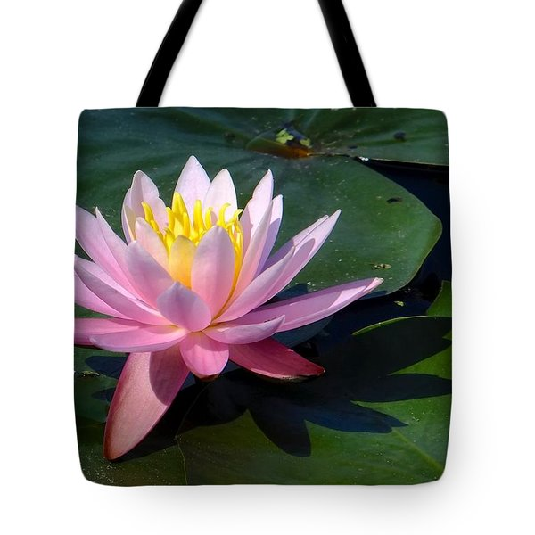Water Lily In Mountain Lake Tote Bag
