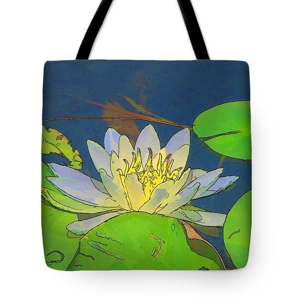 Tote Bag featuring the digital art Water Lily by Maciek Froncisz