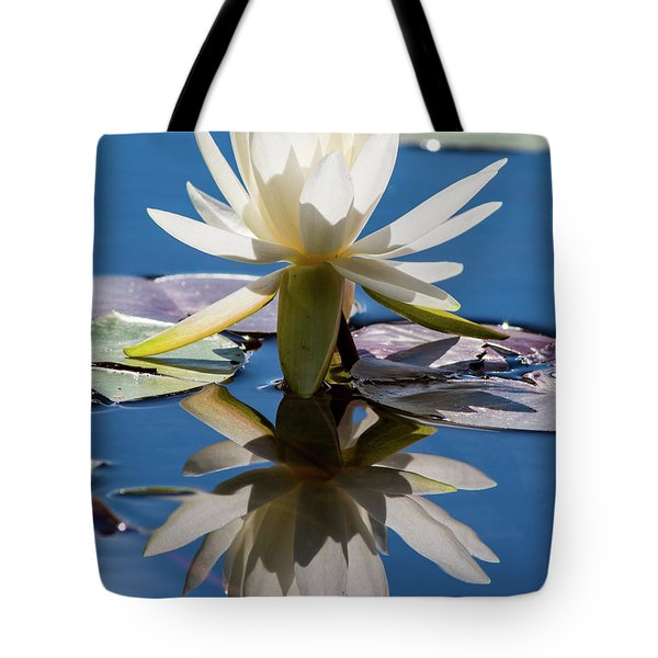 Tote Bag featuring the photograph Water Lily by Mary Hone