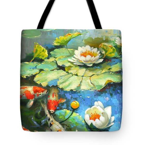 Water Lily Or Solar Pond      Tote Bag
