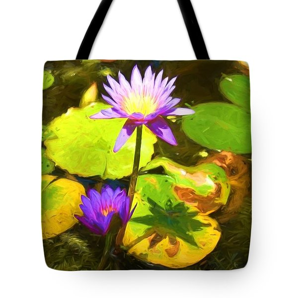 Water Lily Van Goh Tote Bag