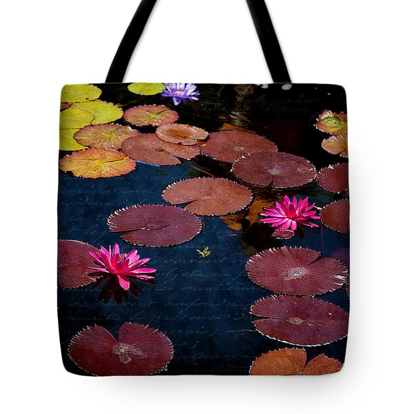 Water Lily World Tote Bag
