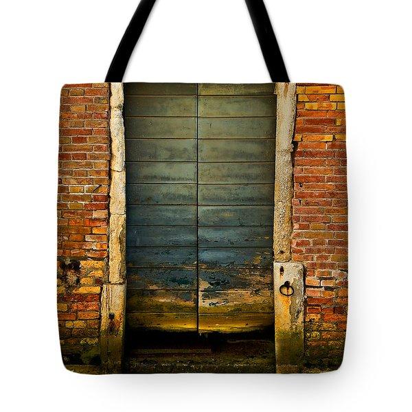 Water-logged Door Tote Bag