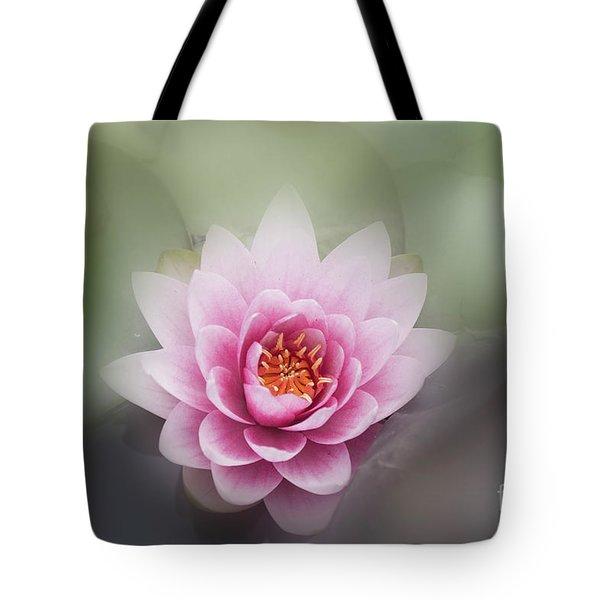 Water Lotus Flower Tote Bag