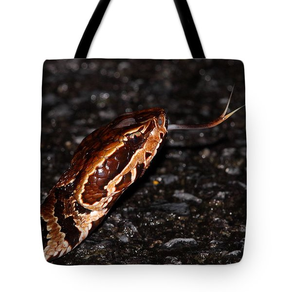 Water Moccasin Tote Bag