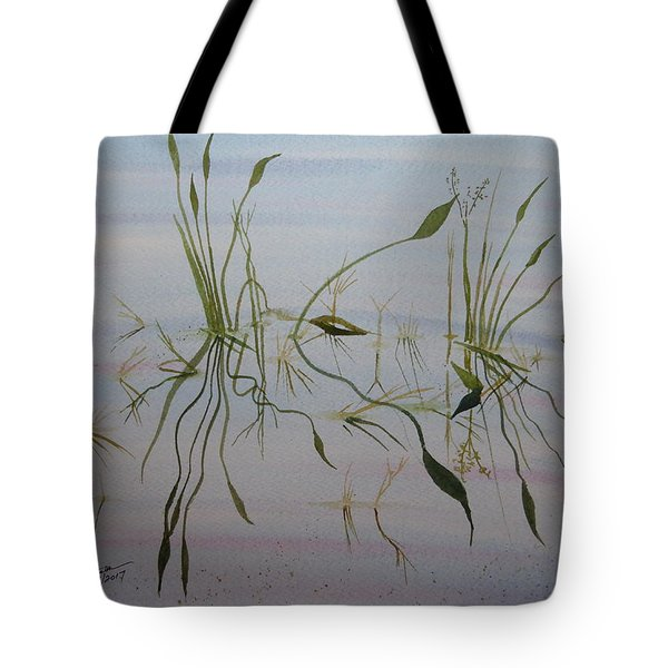Tote Bag featuring the painting Water Music by Joel Deutsch