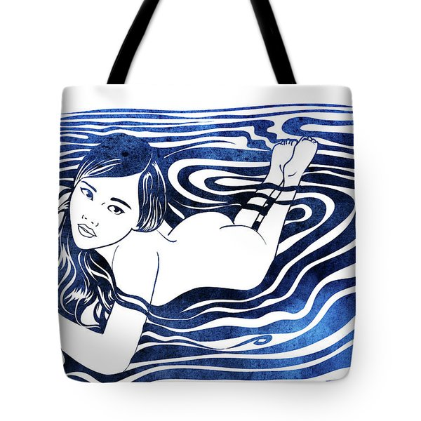 Water Nymph V Tote Bag