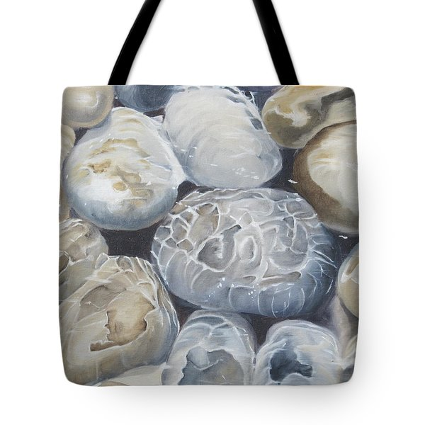 Water Of Pebbles Tote Bag
