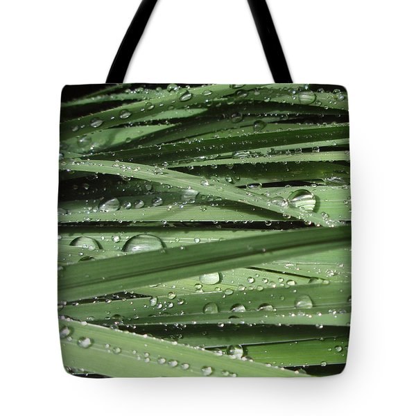Water On Siberian Iris Tote Bag